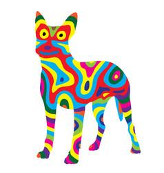 Rainbow dog 6 vector