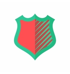 Red-green shield icon flat style vector