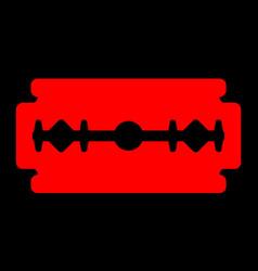 Red razor blade vector