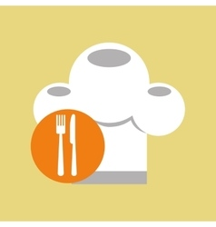 restaurant chef symbol icon vector image