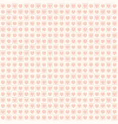 Rose heart pattern with dots and squares seamless vector