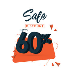 Sale discount up to 60 template design vector
