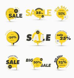 set round tags on leg for mega big sale vector image