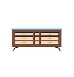 sideboard flat it is executed in the old vector image
