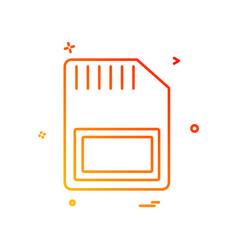 sim card icon design vector image
