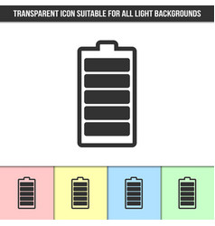 simple outline transparent battery icon on vector image