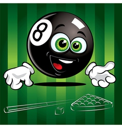 smiling pool ball vector image vector image