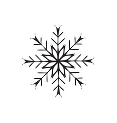 snowflake icon christmas and winter theme on vector image