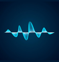 sound wave pattern equalizer graf design abstract vector image