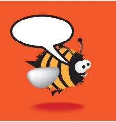 Speech bee vector