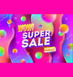 super sale promotion design vector image