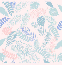 tropic seamless pattern with color leaves vector image