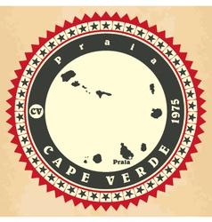Vintage label-sticker cards cape verde vector
