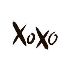 Xoxo lettering design for decorations vector