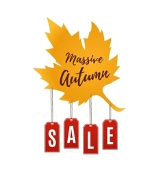 Autumn sale abstract banner vector image vector image