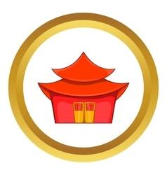 Chinese pagoda icon vector image