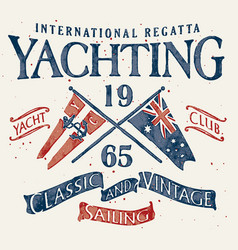 classic and vintage sailing vector image