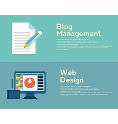 Flat design concepts for web design graphic design vector image