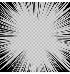 Manga comic book flash explosion radial lines vector