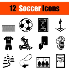 Set of soccer icons vector image