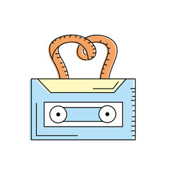 cassette to listen and play music vector image