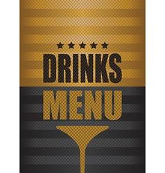 drinks menu background vector image
