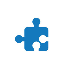 flat design of jigsaw puzzle piece vector image