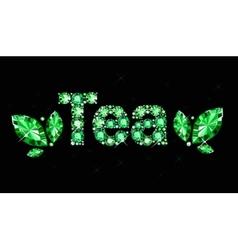 Gem word tea vector image vector image