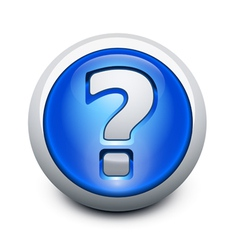 glassy question button vector image vector image
