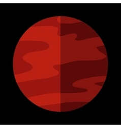 Mars planet sign vector