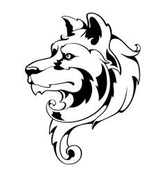 Vintage Wolf vector image