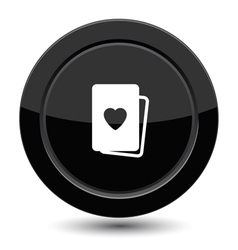 Button with cards vector image vector image
