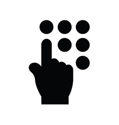 click hand icon black icon vector image