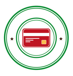 Credit card money icon vector