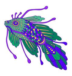 fantasy decorative fish pastel color vector image vector image