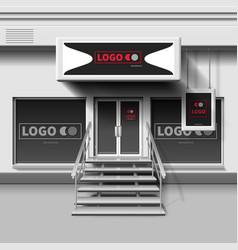 shop exterior template 3d storefront with vector image vector image