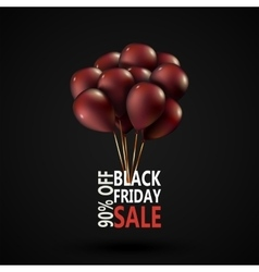 Black Friday sale inscription photorealistic vector image
