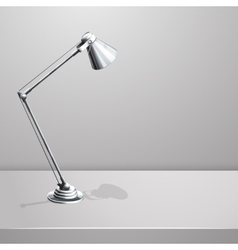 Desk lamp on table White empty background vector image