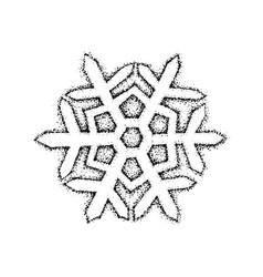 dotwork snowflake vector image