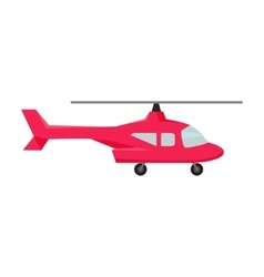 Fly Helicopter Icon vector image vector image