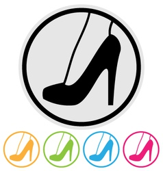 high heel shoe icon vector image vector image