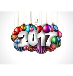 2017 Happy New Year Background for your Seasonal vector image