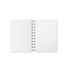 a realistic open exercise book with silver vector image