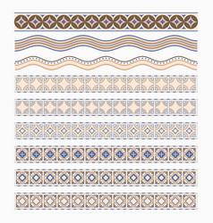 A set colored borders vector