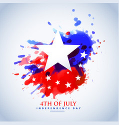 Abstract watercolor american flag for 4th of july vector