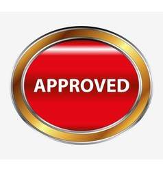 Approved sign button vector