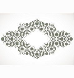 Arabesque vintage outline decor ornate pattern vector