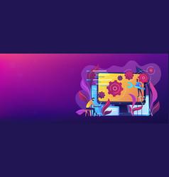 back end development it header or footer banner vector image