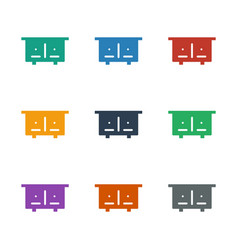 Beehouse icon white background vector