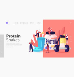 Bodybuilding food landing page template tiny vector
